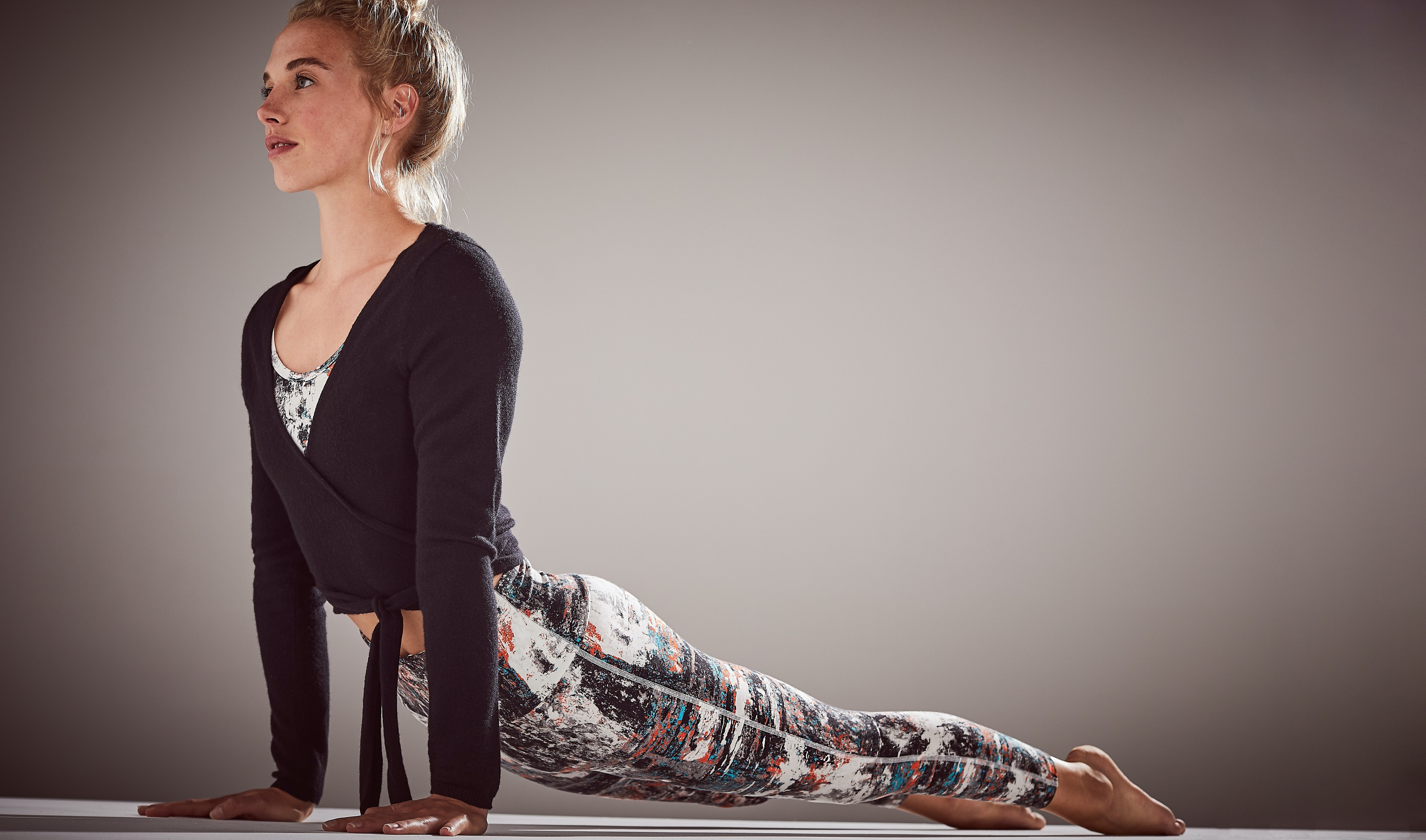Ballet Wrap £59 worn with Enduro Deep Waistband Leggings £49 from BAM-1
